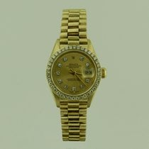 Rolex LADY DATE JUST  GOLD DiAMOND BEZEL & DiAL