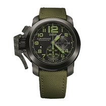 Graham Chronofighter Oversize Amazonia Green / Black 2CCAU.G