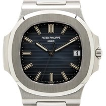 Patek Philippe 5711/1A-010 Nautilus 40mm Black-Blue Index Date...