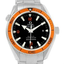 Omega Seamaster Planet Ocean Orange Bezel Mens Watch 2209.50.00