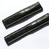 Breitling Croco Armband 22/20mm (100/120) Schwarz Black...