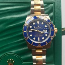 Rolex Submariner Two Tone  Gold Blue  Ceramic Bezel