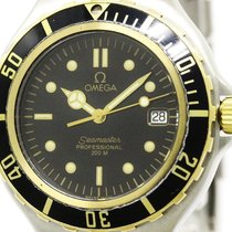 Omega Seamaster Professional 18k Gold Steel Watch 396.1042...