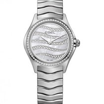 Ebel Wave Lady Steel Bracelet, Wave Diamond