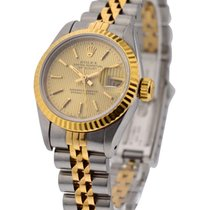 Rolex Used 69173_used_champagne_tapistry Ladys 2-Tone DATEJUST...