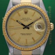 Ρολεξ (Rolex) Oyster Perpetual 34mm 15053 Date 18k Gold Steel