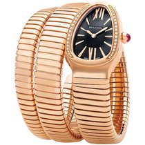 Bulgari Tubogas Serpenti 35mm Rose Gold Double Spiral