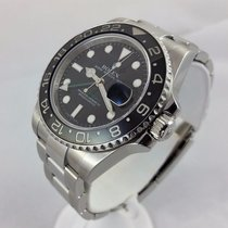 Rolex Gmt Master Ii 116710 Stainless Steel Engraved Black...