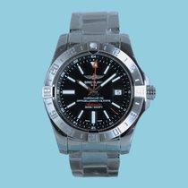 Breitling Avenger II GMT Index schwarz Stahlband -NEU-