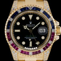 Rolex 18k Y/G Sapphire Ruby & Diamond GMT-Master II...
