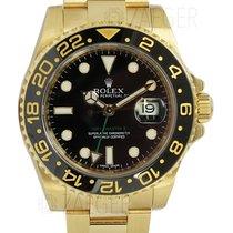 ロレックス (Rolex) GMT Master II 18k Yellow Gold Black Dial 116718...