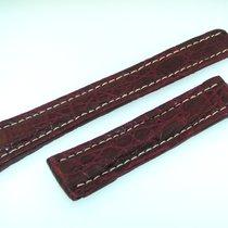 Breitling Band 20mm Croco Rot Braun Red Brown Strap Für...