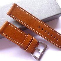 Handmade Bodhy 24/24mm Brown leather band - 24mm Strap Panerai...