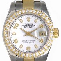 Rolex Ladies 2-Tone Datejust Watch 179173 White Dial
