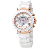 Stuhrling Original Stuhrling Mother of Pearl Ceramic Ladies Watch