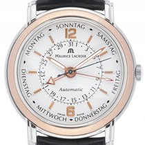 Maurice Lacroix Masterpiece Cina Aiguilles Day Date Stahl 18kt...