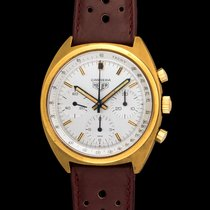 Heuer Carrera 73655 Gold Plated In New Old Stock Condition