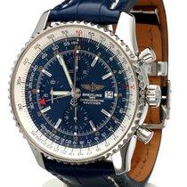 Breitling Navitimer World Chronograph Steel Blue Dial 46mm ...