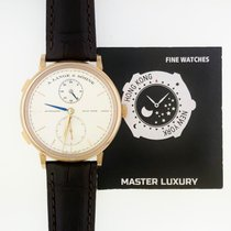 A. Lange & Söhne 385.032 Saxonia Dual Time Rose Gold...