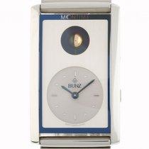 Bunz Moontime Mondphase Stahl Quarz Armband Stahl 42x26mm...