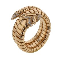 Bulgari Jewelry Serpenti Tubogas Ring AN856571