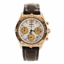 Breitling 18K Gold Chronograph Watch K55348 (Pre-Owned)