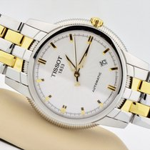 Tissot Ballade III Two Tone Stainless Steel Automatic White...