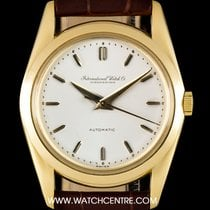 IWC 18k Yellow Gold Silver Dial Automatic Vintage Gents Watch