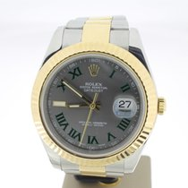 Rolex Datejust II 41mm Steel/Gold WimbledonDial (BOXonly2010)