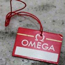 Omega vintage tag red paper