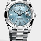Rolex DAY DATE 40MM PLATINUM ICE BLUE