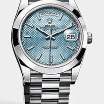 Rolex DAY DATE 40MM PLATINUM ICE BLUE
