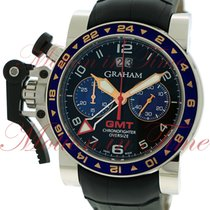 Graham Chronofighter Oversize GMT, Black Dial - Stainless...