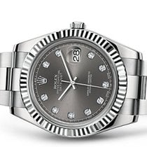 Rolex Datejust II Rhodium Diamant Zifferblatt