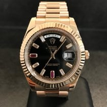 Rolex Day-Date II - Rosegold - Ref. 218235 - 41mm  Ruby Dial