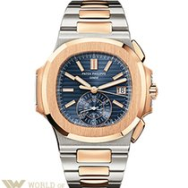 Patek Philippe Nautilus Stainless Steel and Rose Gold Men'...