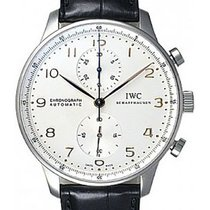 IWC Portuguese Chronograph  White Silver Plated  Dial