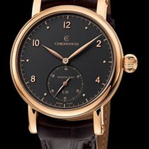 Chronoswiss Sirius Manufacture Red Gold-Silver Black Dial 40mm...