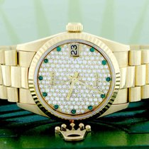 Rolex President Datejust Midsize Yellow Gold 31MM 68278...