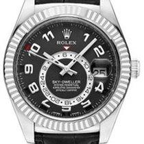 Rolex Sky-Dweller 326139 Men's 42mm Black Arabic 18k White...