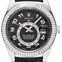 Rolex Sky-Dweller 326139 Men's 42mm Black Arabic 18k White...