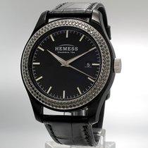 Hemess Hematic Evo Edelstahl - schwarze Diamanten -Automatik