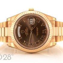 Rolex Day-Date II 218235  Roségold  Chocolate Full Set 11/2016 EU
