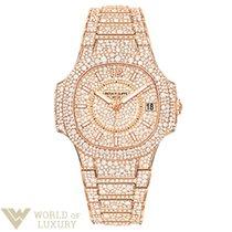 Patek Philippe Nautilus Diamond Paved 18K Rose Gold Ladies Watch