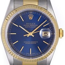 Rolex Datejust Men's 2-Tone Steel & Gold Blue Dial...