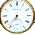 H.Moser & Cie. 18kt Gold Savonette Taschenuhr Minuten-Repi...