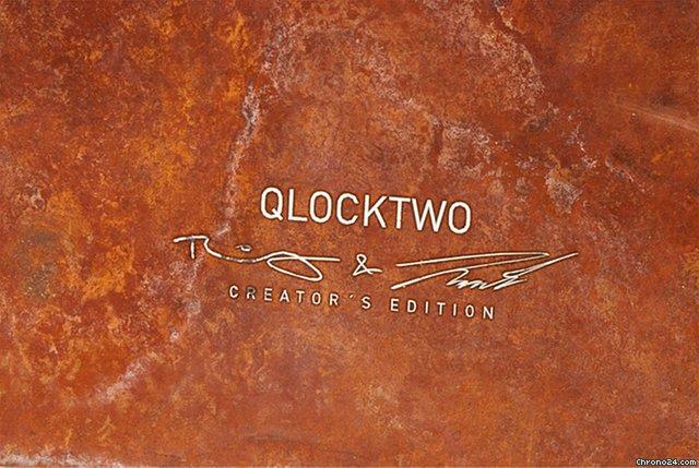 qlocktwo classic creator 39 s edition rust wanduhr f r chf 2 39 462 kaufen von einem trusted. Black Bedroom Furniture Sets. Home Design Ideas