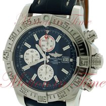Breitling Super Avenger II, Blue Dial - Stainless Steel on Strap