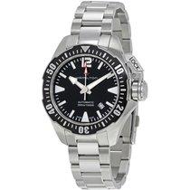 Hamilton Men's H77605135 Khaki Navy Frogman Auto Watch