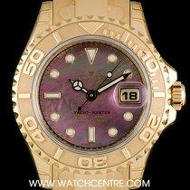 Rolex 18k Y/G Unworn O/P MOP Dial Yacht-Master Ladies B&P...